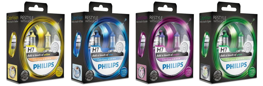 Żarówki H7 Philips ColorVision